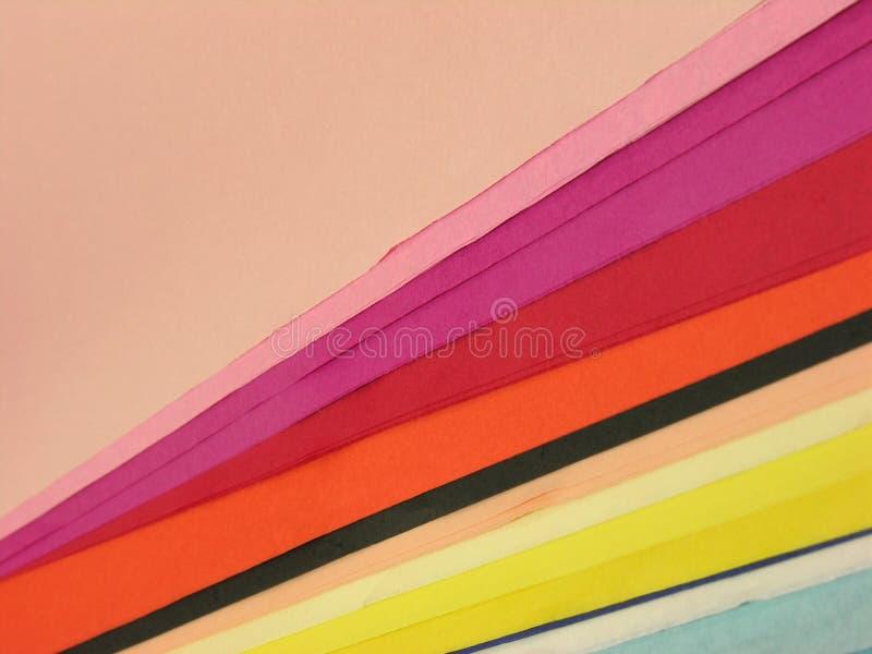 Feuilles de papier coloré photo libre de droits