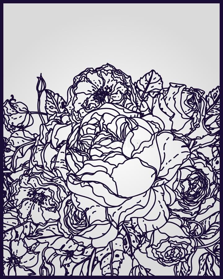 Feuilles en filigrane pour la coupe de papier illustration stock