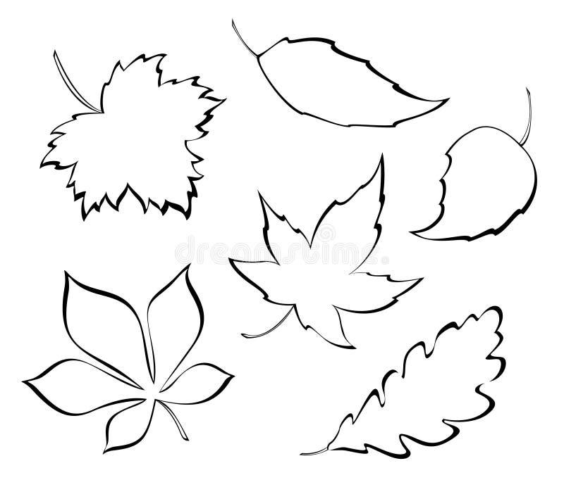 Feuilles stylisées illustration de vecteur