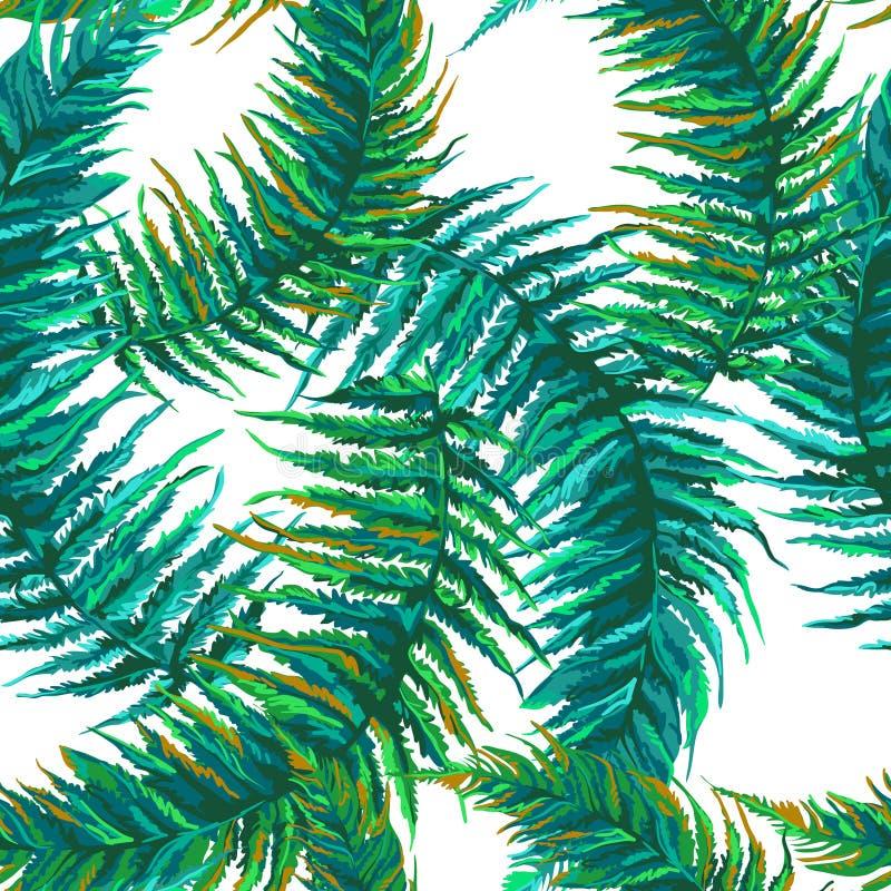 Feuilles tropicales exotiques illustration stock