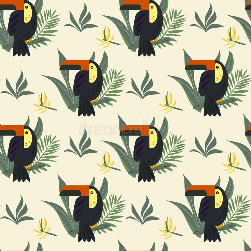 Feuilles tropicales lumineuses sur un fond vert sensible Conception de vecteur illustration stock