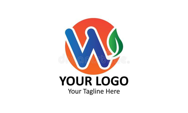 Feuilles typographiques du meilleur de nourriture logo de nouille illustration libre de droits