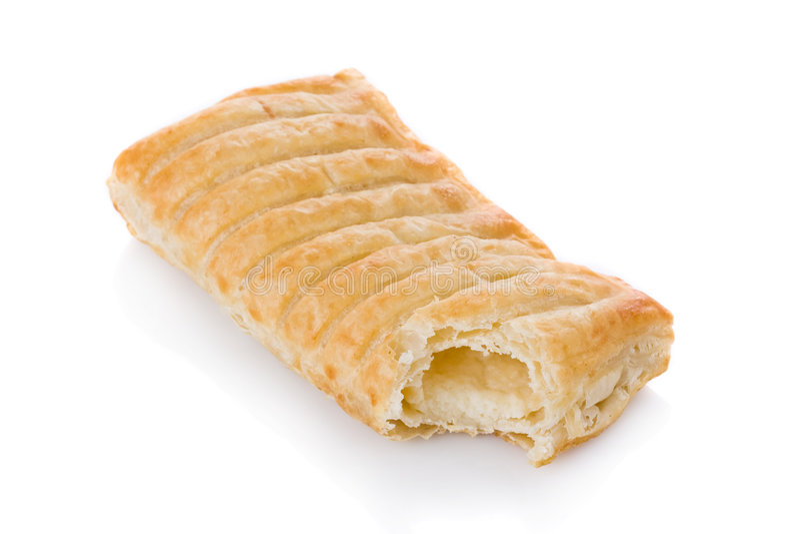 feuilleté de pâtisserie fondu par fromage bourré photos libres de droits
