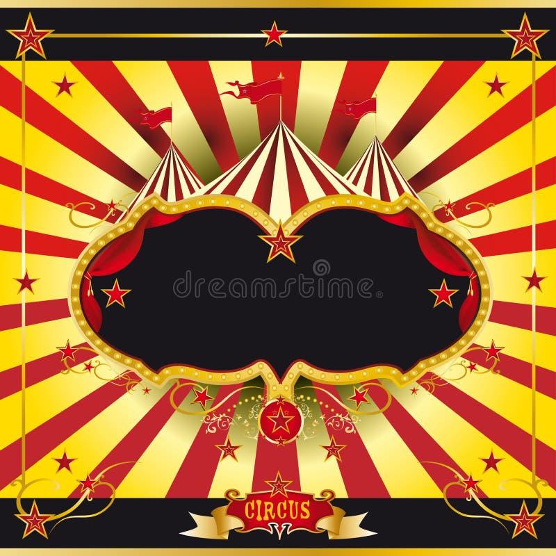 Feuillet rouge et jaune de cirque illustration de vecteur