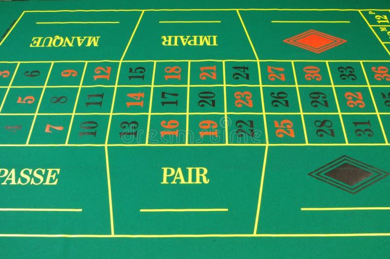 Feutre de vert de casino photographie stock