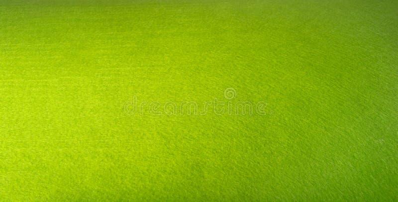 Feutre de vert Fond de tissu Texture avec des villus Couleur lumineuse image stock