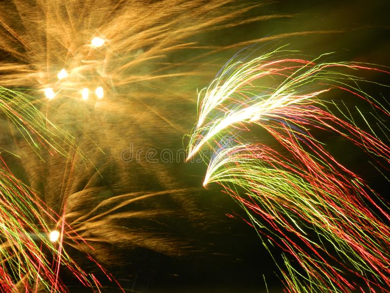 Feux d'artifice de décembre en Colombie photo stock