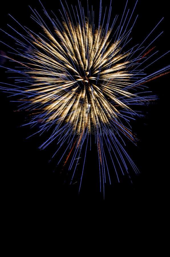 Feux d'artifice de explosion dans le ciel nocturne photos stock