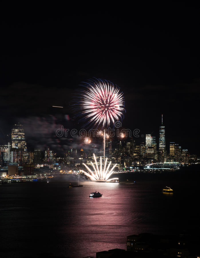 Feux d'artifice de New York image stock