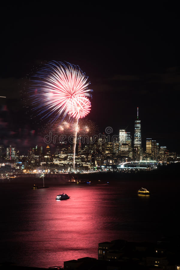 Feux d'artifice de New York images libres de droits