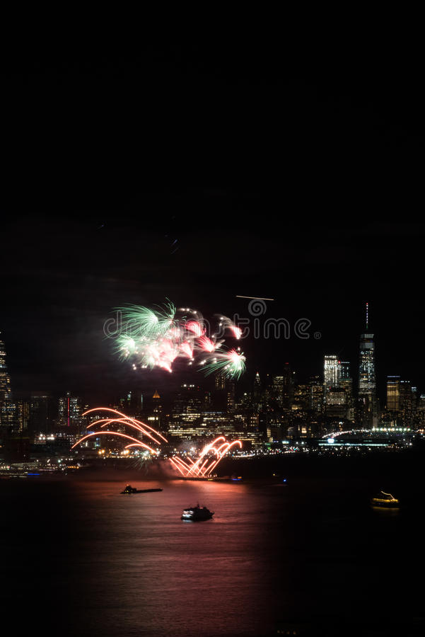 Feux d'artifice de New York photo stock