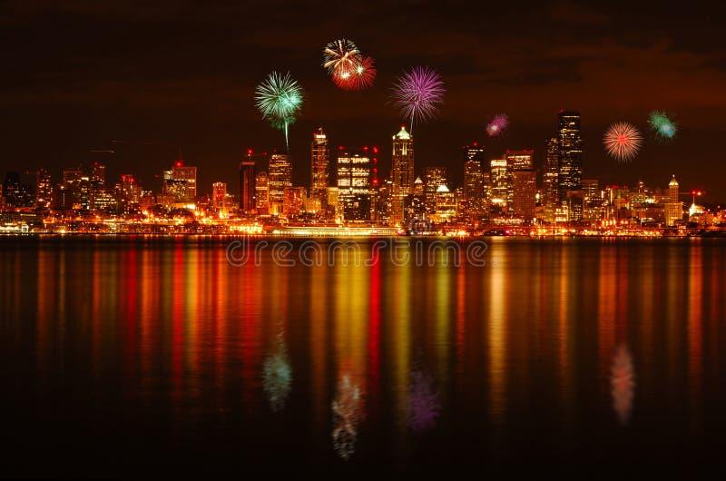 Feux d'artifice de Seattle photos libres de droits