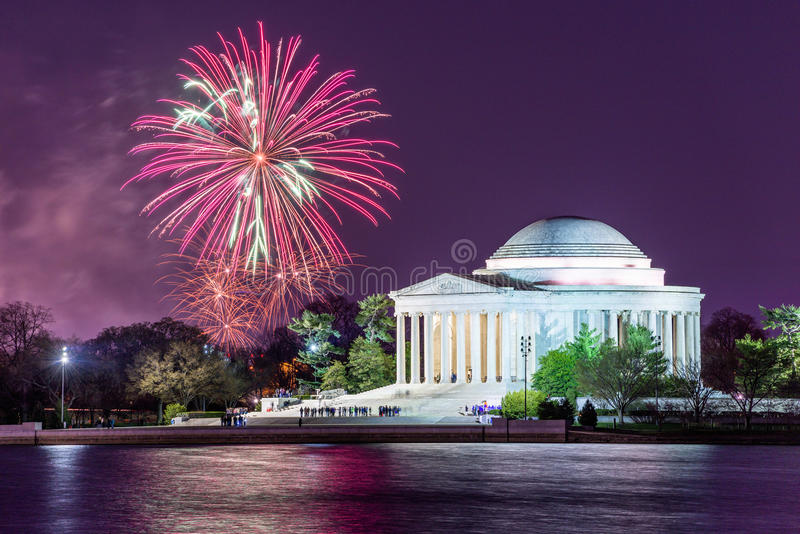 Feux d'artifice de Washington DC images libres de droits