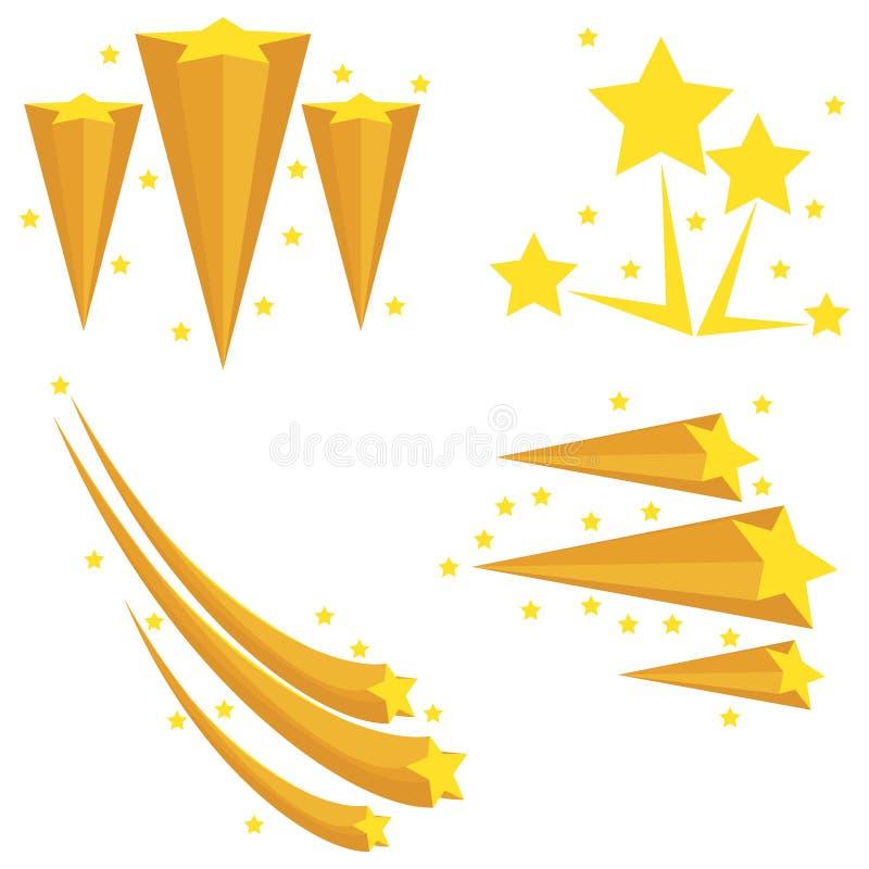 Feux d'artifice des étoiles Explosion des étoiles Étoile de chute illustration libre de droits