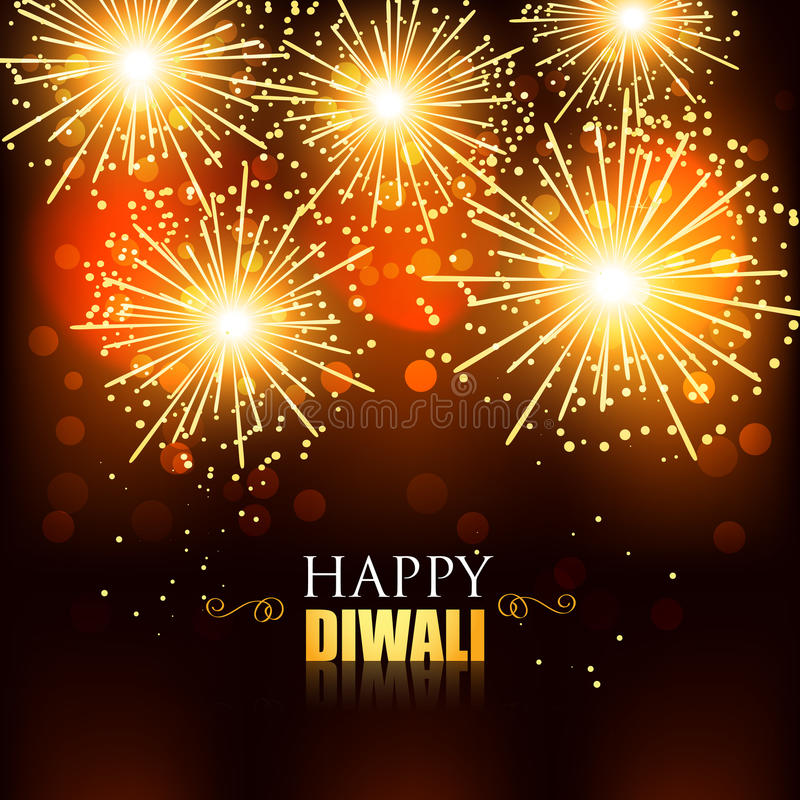 Feux d'artifice heureux de diwali