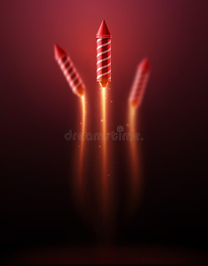 Feux d'artifice Rocket illustration libre de droits