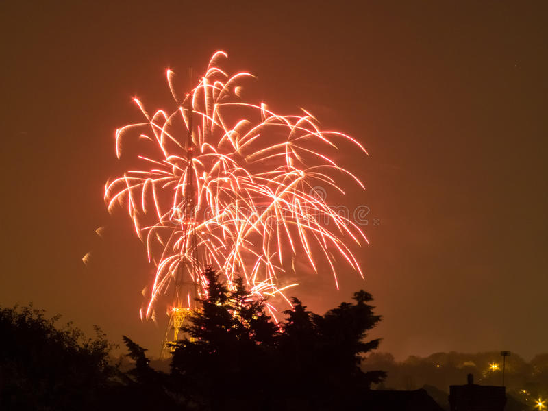 Feux d'artifice sur Guy Fawkes Night photos stock