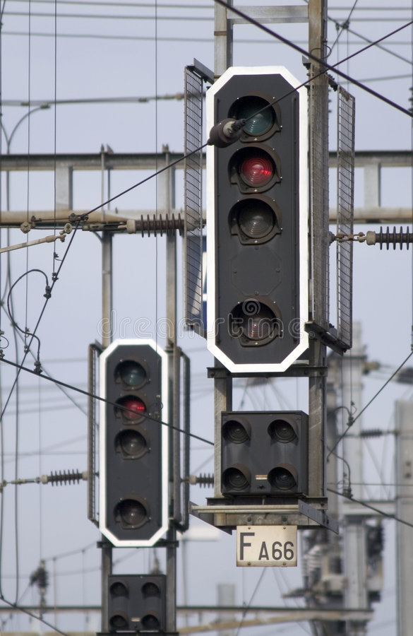 Feux de signalisation ferroviaires photographie stock libre de droits