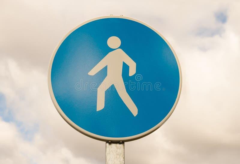 Feux de signalisation, rue piétonnière images libres de droits