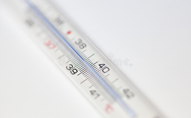 Fever thermometer royalty free stock photo