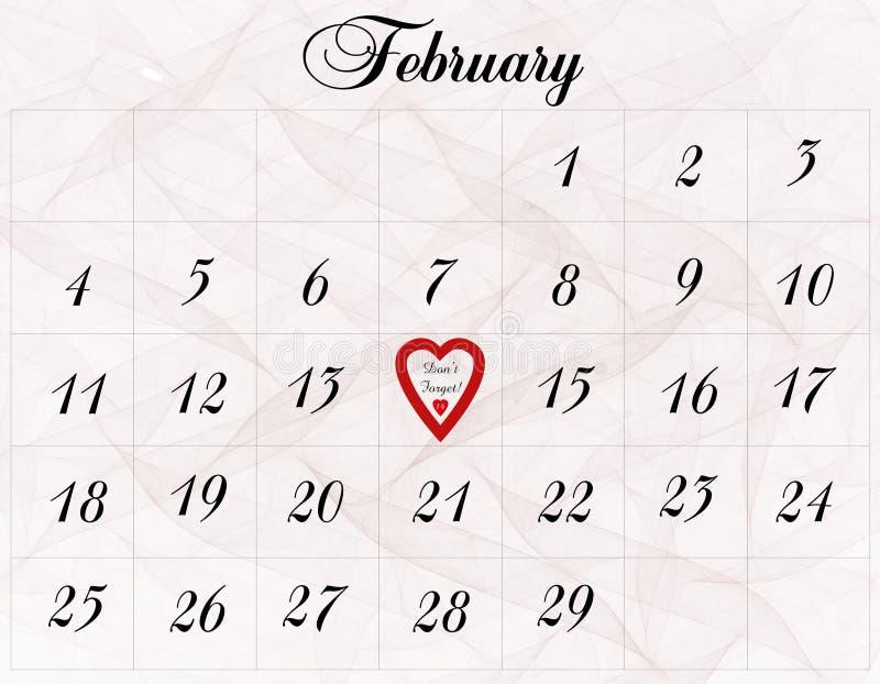 Fevereiro 1ô ilustração royalty free