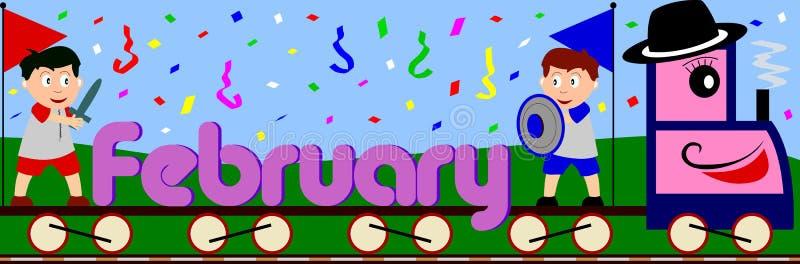 Fevereiro ilustração stock