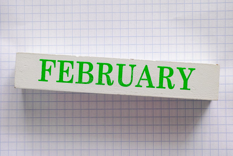 fevereiro imagem de stock
