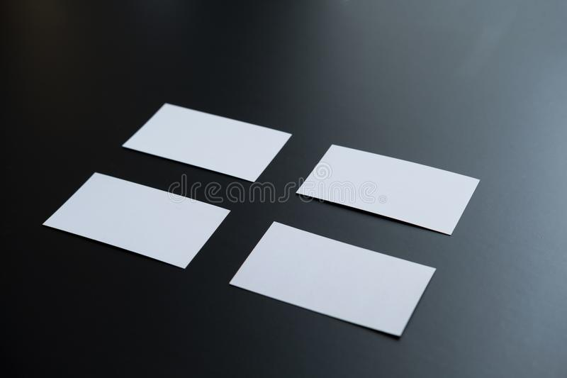 Few clean white business cards with space for text stock photo download few clean white business cards with space for text stock photo image of company colourmoves Image collections