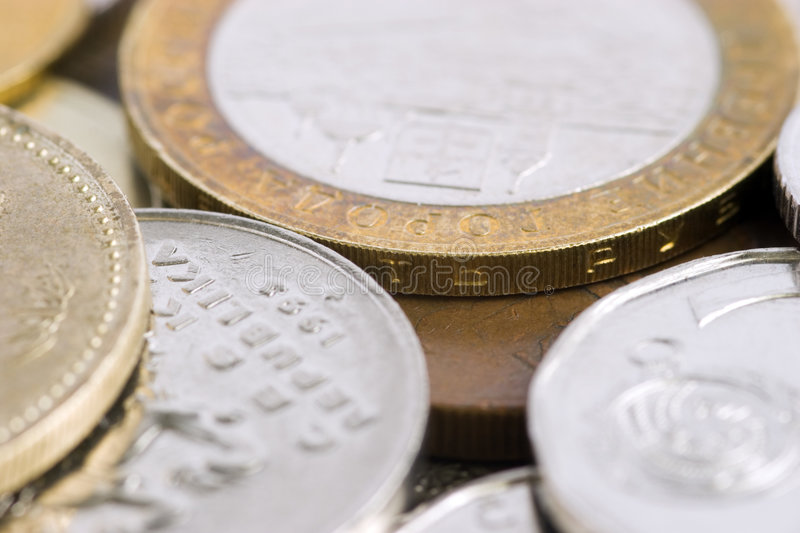 Few coins. Of the different states close up royalty free stock photos