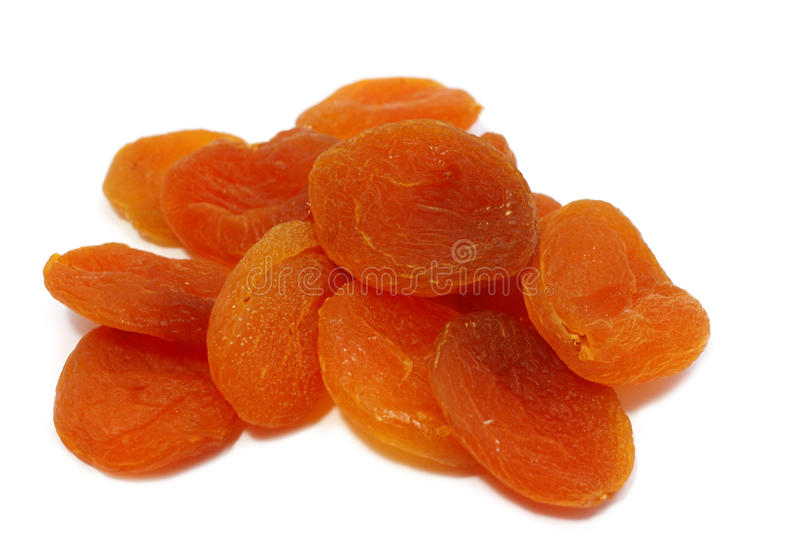 A few dried apricots royalty free stock photography