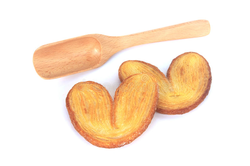 A few heart shaped toasted breads royalty free stock photography