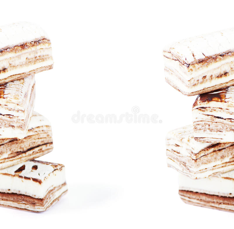 Few Pieces Of Nougat Stacked Stock Images