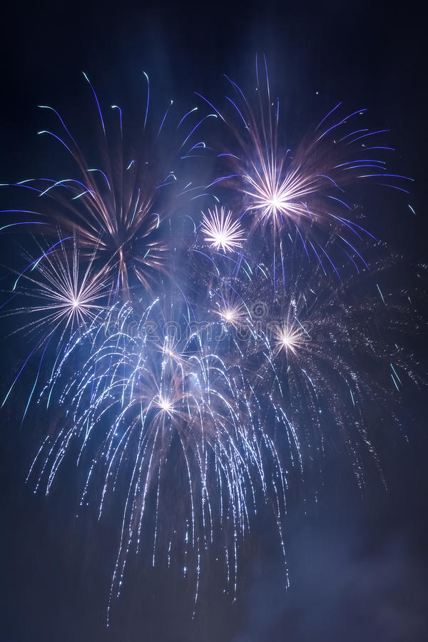 Few small fireworks during the celebrations stock photo