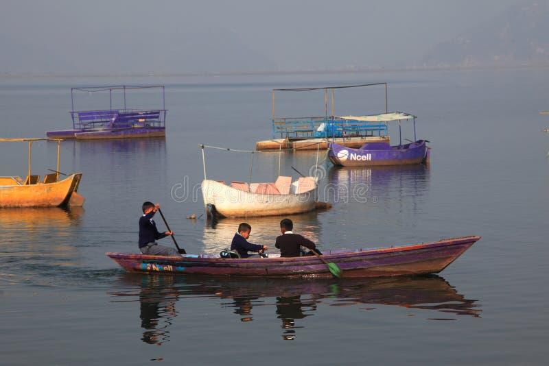 fewa jeziorny Nepal pokhara zdjęcia royalty free