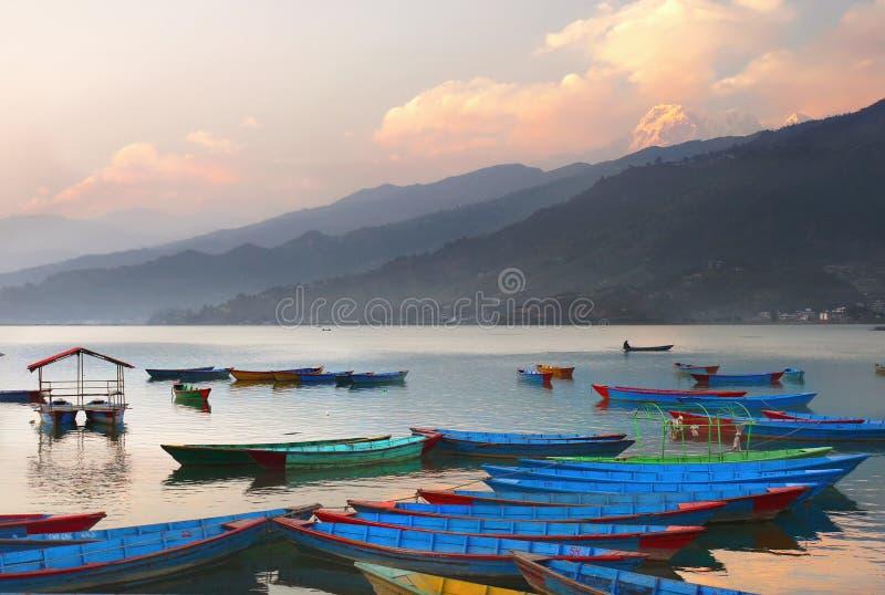 Twilight View Of Lakeside, Pokhara, Nepal Editorial Image