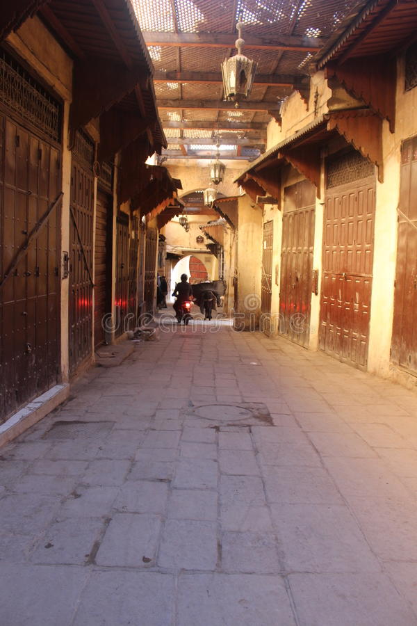 Fez-stad Marokko Casablanca Afrika stock afbeelding