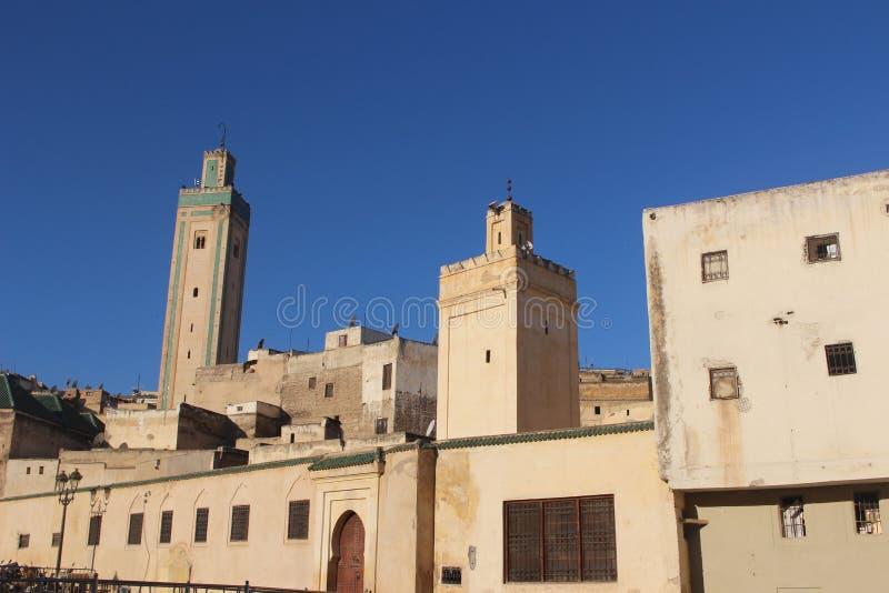 Fez-stad Marokko Casablanca Afrika stock fotografie
