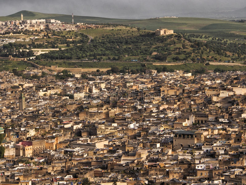 Fezu miasto, Maroko obrazy royalty free