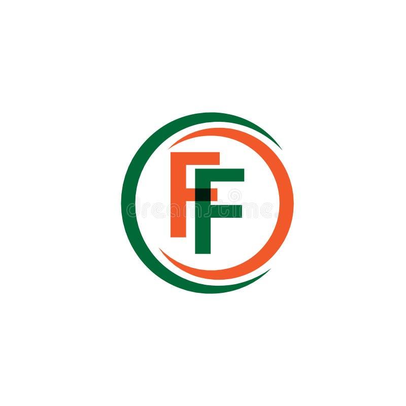 FF Firmy logo szablonu projekta Wektorowa ilustracja royalty ilustracja