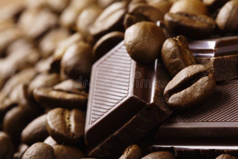 Ffee e chocolate do ¾ de ÑÐ fotografia de stock