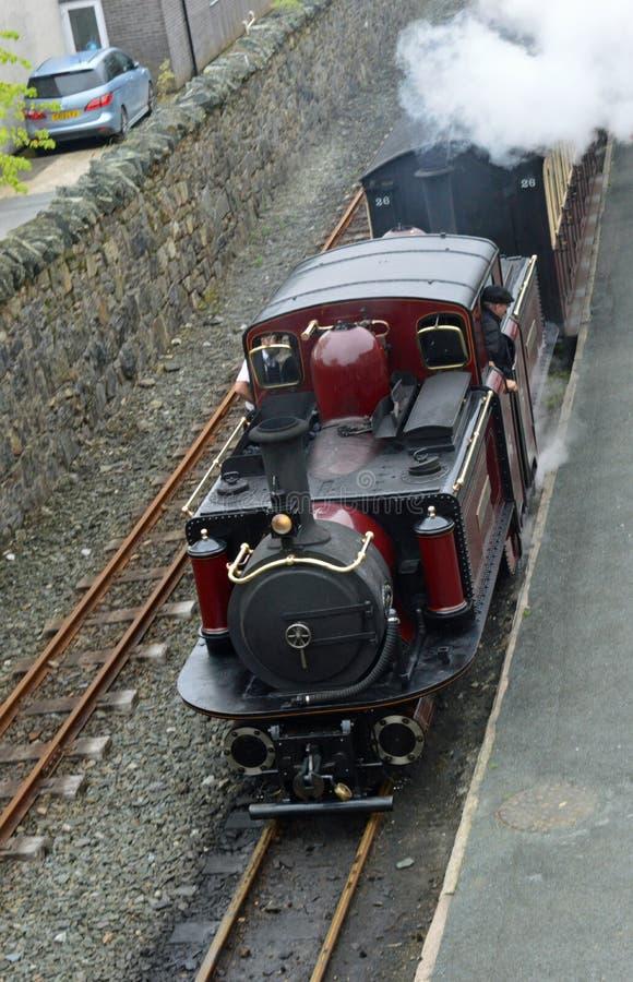 Ffestiniog-Eisenbahndampflokomotive lizenzfreie stockbilder