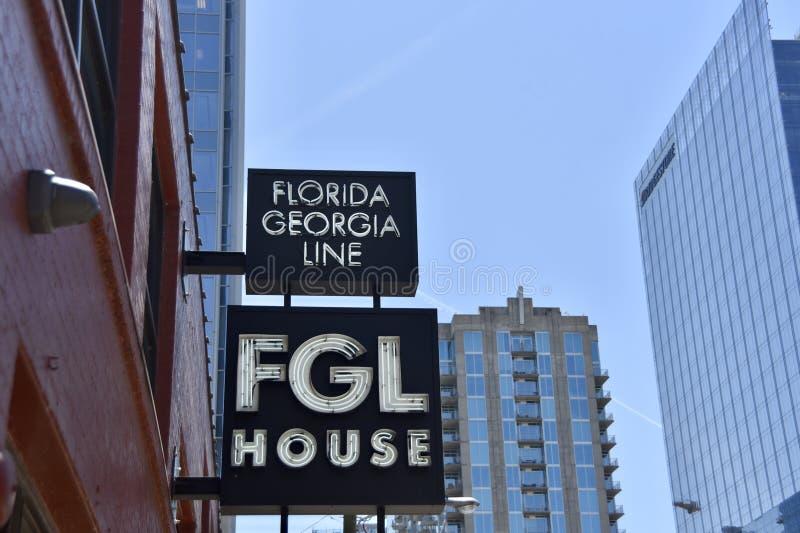 FGL Florida Georgia Line House, Nashville, TN royaltyfria foton