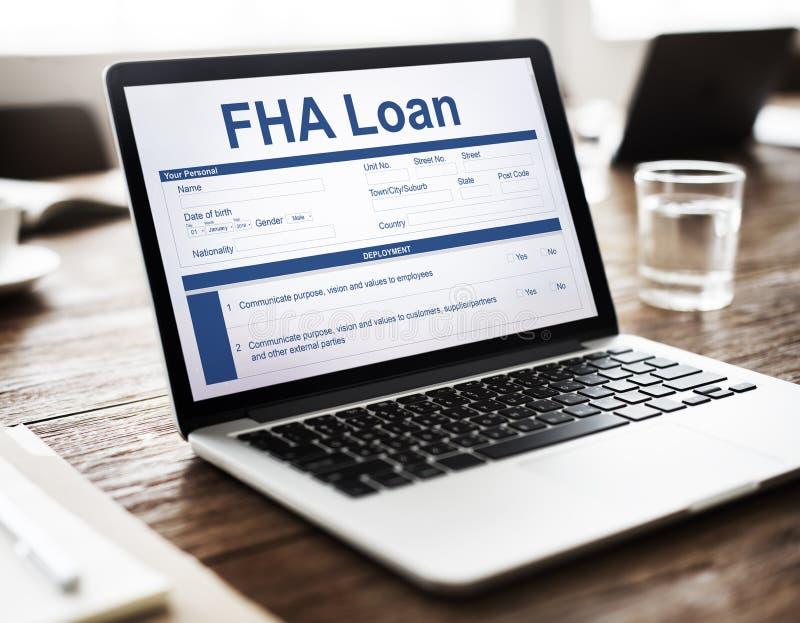 FHA Loan Borrower Document Questionnaire Concept stock image