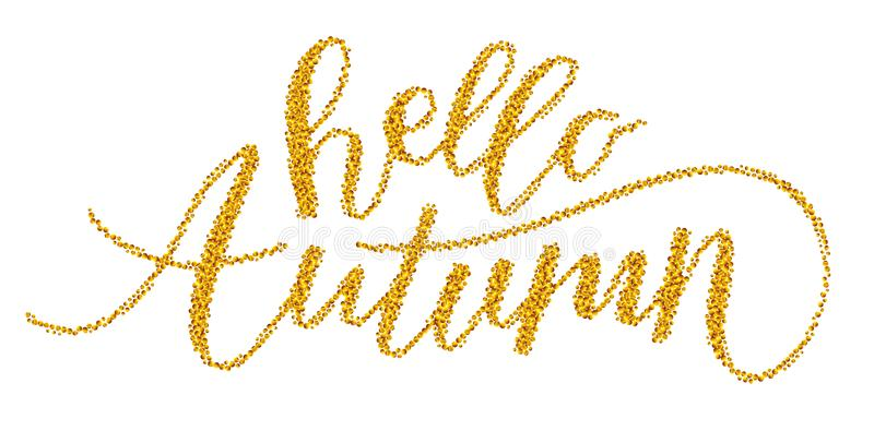 Golden lettering vector illustration