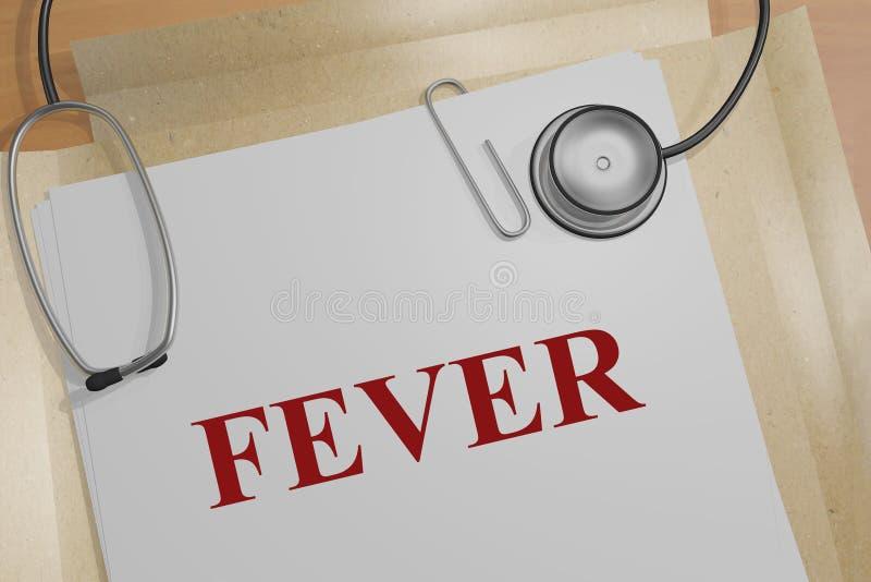 FIÈVRE - concept médical illustration libre de droits
