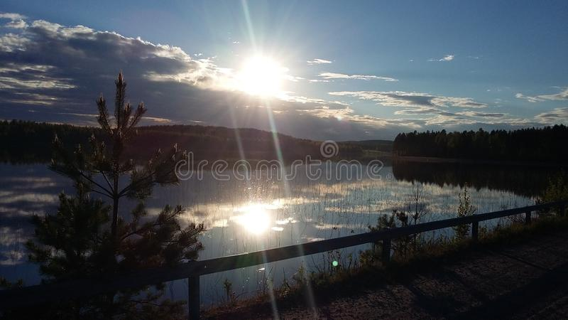 Fiński lakeview zdjęcia stock