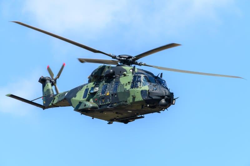 Fiński NH-90 helikopter zdjęcie royalty free