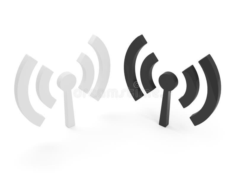 fi图标查出无线的wi 皇族释放例证