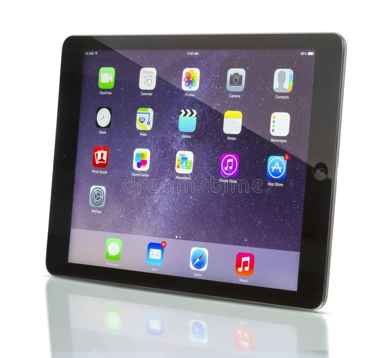 ` Fi +de Wi†del aire del iPad de Applecelular imagenes de archivo