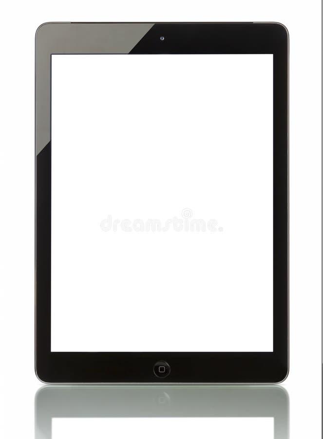 ` Fi +de Wi†del aire del iPad de Applecelular con la pantalla en blanco fotografía de archivo libre de regalías